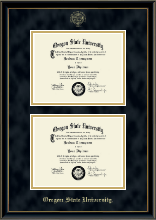 Oregon State University Diploma Frame - Double Diploma Frame in Onexa Gold