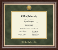 Tiffin University Diploma Frame - Gold Engraved Medallion Diploma Frame in Hampshire