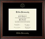 Tiffin University Diploma Frame - Gold Embossed Diploma Frame in Studio