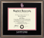 Samford University Diploma Frame - Dimensions Diploma Frame in Easton