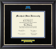 Morehead State University Diploma Frame - Dimensions Diploma Frame in Noir