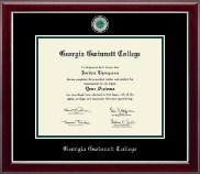 Georgia Gwinnett College Diploma Frame - Masterpiece Medallion Diploma Frame in Gallery Silver