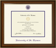 University of St. Thomas Diploma Frame - Dimensions Diploma Frame in Westwood