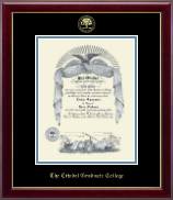 The Citadel The Military College of South Carolina Certificate Frame - Gold Embossed Certificate Frame in Gallery