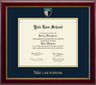 Yale University Diploma Frame - Masterpiece Medallion Diploma Frame in Gallery