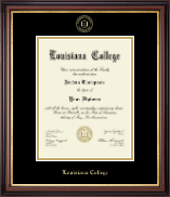 Louisiana College Diploma Frame - Gold Embossed Diploma Frame in Regency Gold