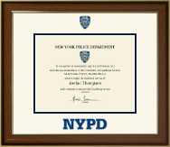 Police Department City of New York Certificate Frame - Dimensions Certificate Frame in Westwood