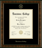 Louisiana College Diploma Frame - Gold Embossed Diploma Frame in Brentwood