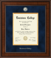 Louisiana College Diploma Frame - Presidential Masterpiece Diploma Frame in Madison
