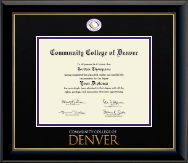 Community College of Denver Diploma Frame - Dimensions Diploma Frame in Onyx Gold