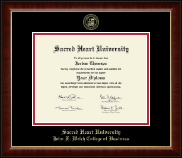 Sacred Heart University Diploma Frame - Gold Embossed Diploma Frame in Murano