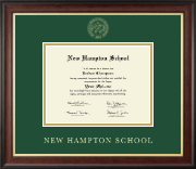 New Hampton School in New Hampshire Diploma Frame - Gold Embossed Diploma Frame in Studio Gold