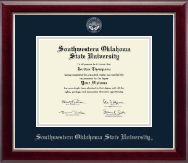 Southwestern Oklahoma State University Diploma Frame - Silver Embossed Diploma Frame in Gallery Silver