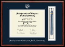 Southwestern Oklahoma State University Diploma Frame - Tassel Edition Diploma Frame in Southport