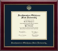Southwestern Oklahoma State University Diploma Frame - Gold Embossed Diploma Frame in Gallery