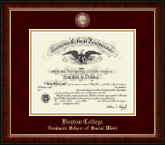 Boston College Diploma Frame - Masterpiece Medallion Diploma Frame in Murano