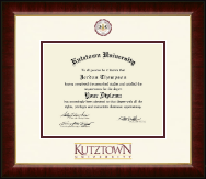 Kutztown University Diploma Frame - Dimensions Diploma Frame in Murano