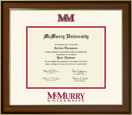 McMurry University Diploma Frame - Dimensions Diploma Frame in Westwood