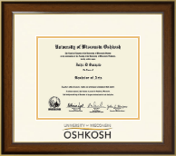 University of Wisconsin Oshkosh Diploma Frame - Dimensions Diploma Frame in Westwood