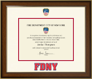 Fire Department City of New York Certificate Frame - Dimensions Certificate Frame in Lancaster