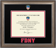 Fire Department City of New York Certificate Frame - Dimensions Certificate Frame in Easton