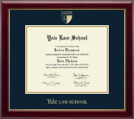 Yale University Diploma Frame - Gold Embossed Diploma Frame in Gallery