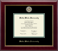Walla Walla University Diploma Frame - Masterpiece Medallion Diploma Frame in Gallery
