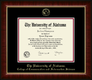 The University of Alabama Tuscaloosa Diploma Frame - Gold Embossed Diploma Frame in Murano