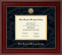 West Virginia Wesleyan College Diploma Frame - Presidential Gold Engraved Diploma Frame in Jefferson