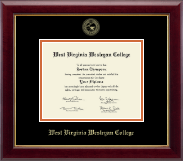 West Virginia Wesleyan College Diploma Frame - Gold Embossed Diploma Frame in Gallery