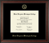 West Virginia Wesleyan College Diploma Frame - Gold Embossed Diploma Frame in Studio