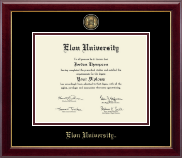 Elon University Diploma Frame - Masterpiece Medallion Diploma Frame in Gallery