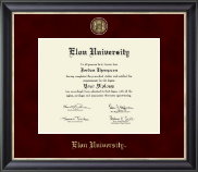 Elon University Diploma Frame - Regal Edition Diploma Frame in Midnight