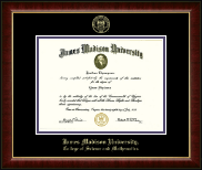 James Madison University Diploma Frame - Gold Embossed Diploma Frame in Murano