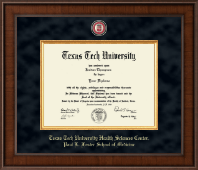 Texas Tech University Health Sciences Center Diploma Frame - Presidential Masterpiece Diploma Frame in Madison
