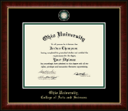 Ohio University Diploma Frame - Masterpiece Medallion Diploma Frame in Murano
