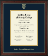 Valley Forge Military College Diploma Frame - Gold Embossed Diploma Frame in Studio Gold