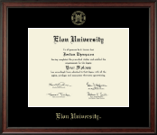 Elon University Diploma Frame - Gold Embossed Diploma Frame in Studio