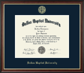 Dallas Baptist University Diploma Frame - Gold Embossed Diploma Frame in Studio Gold