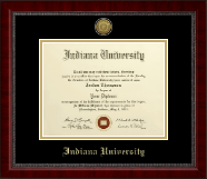 Indiana University - Purdue University Columbus Diploma Frame - Gold Engraved Medallion Diploma Frame in Sutton