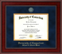 University of Connecticut School of Social Work Diploma Frame - Presidential Masterpiece Diploma Frame in Jefferson