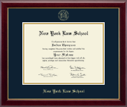 New York Law School Diploma Frame - Gold Embossed Diploma Frame in Gallery