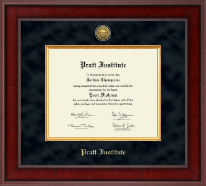 Pratt Institute Diploma Frame - Presidential Gold Engraved Diploma Frame in Jefferson