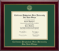 Cal Poly San Luis Obispo Diploma Frame - Gold Embossed Diploma Frame in Gallery