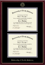 University of North Alabama Diploma Frame - Double Diploma Frame in Galleria