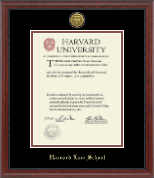 Harvard University Diploma Frame - Gold Engraved Medallion Diploma Frame in Signature