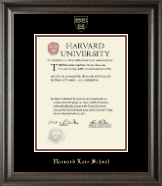 Harvard University Diploma Frame - Gold Embossed Diploma Frame in Acadia