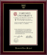 Harvard University Diploma Frame - Gold Embossed Diploma Frame in Gallery