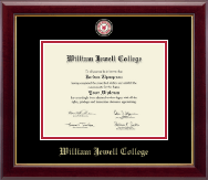 William Jewell College Diploma Frame - Masterpiece Medallion Diploma Frame in Gallery