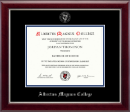 Bachelors/Masters - Silver Embossed Diploma Frame